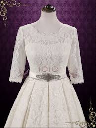 vintage modest lace wedding dress with sleeves camilla ieie bridal