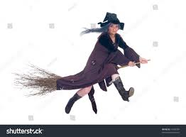 halloween flying witch background middle aged halloween witch flying on stock photo 16756339