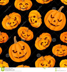 seamless pattern with jack o lantern halloween pu royalty free