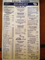 Breakfast Buffet Niagara Falls by Falls Manor Restaurant Menu Menu For Falls Manor Restaurant