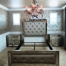 Mirrored Bedroom Furniture Set Stunning Mirrored Bedroom Set Gallery Home Design Ideas