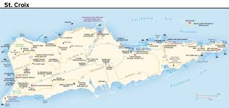 map usvi large road map of st croix island us islands with other