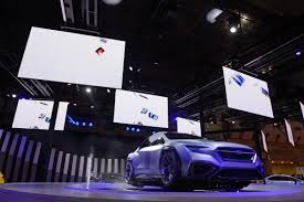 subaru eyes tokyo u0027s tech focused motor show points to an all electric future