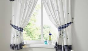 teachable window treatments for kitchen tags blue and white