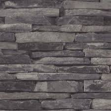 stacked stone look wallpaper grey charcoal colour stacker