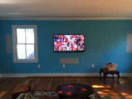 theater room with retractable screen high sound system home