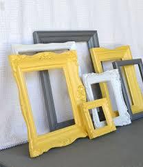 deco chambre jaune et gris relooking et décoration 2017 2018 cadre jaune gris et blanc