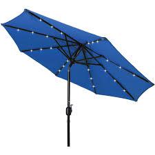 costway 10ft patio solar umbrella led patio market steel tilt w