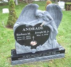 tombstone designs angel heart headstone carved headstones west memorials