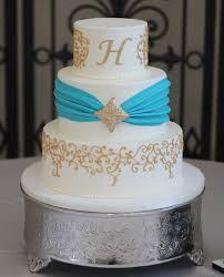 turquoise wedding cake ambrosia cake creations