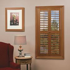 wooden shutters interior home depot homebasics plantation faux wood oak interior shutter price varies