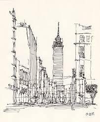 d f torre latinoamericana croquis arquitectonico pinterest