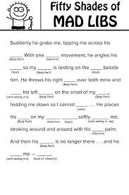 french halloween printables fifty shades of grey u0027 mad libs you can read with your mother