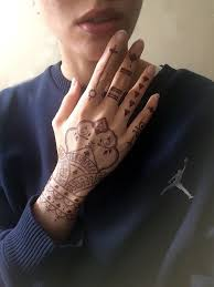 indian henna stencil tattoo sticker fashion design and high