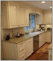 kitchen with backsplash pictures venetian gold light granite with white subway tile and