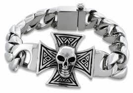 mens skull bracelet images Sterling silver skull bracelets mens skull bracelets bone skull jpg