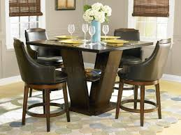 counter height dining room table with 8 chair in black cherry