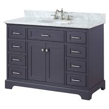 Solid Wood Bathroom Cabinet 48 Inch Solid Wood Bathroom Vanity Cabinet In Grey Charcoal Swanbath