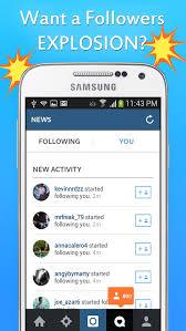 followers apk free get followers boom free get followers boom android