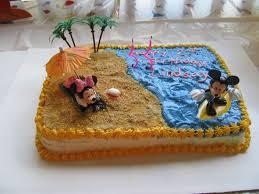 beach cake mickey isaac paties pinterest