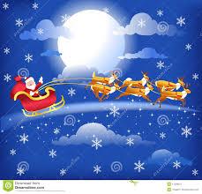 santa and reindeer sleigh blue stock image image 11771381