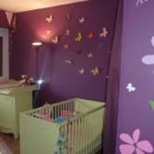 décoration de chambre bébé deco chambre bebe fille violet 6 idee 1 decoration mauve