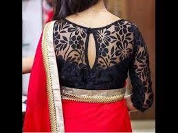 trendy blouses for designer sarees