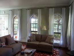 living room curtains ideas home decor gallery throughout white