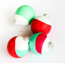 a kailo chic diy it simple dip dyed ornaments