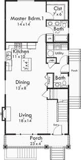 narrow lot plan with basement apartment two family for