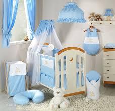 lit chambre enfant parure de lit bébé brodée ensemble 3 pièces ours nuage bleu i