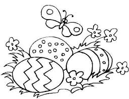 simple easter coloring pages easter egg coloring pages getcoloringpages com