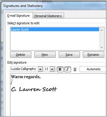 how to create email signatures in outlook