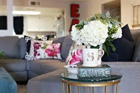 living room floral arrangements get inspired with home design