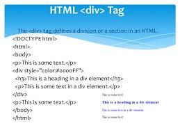 html div tag html ppt