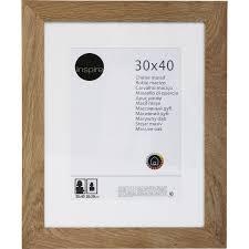 cadre nakato 40 x 50 cm chêne clair leroy merlin