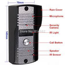 buy free shipping 7 video doorphone intercom doorbell home