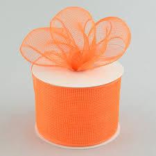 deco mesh ribbon 4 poly deco mesh ribbon orange rs200120 craftoutlet