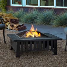 Wood Burning Firepit Real Lafayette Steel Wood Burning Pit Table Reviews