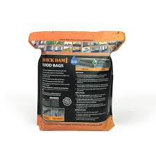 quick dam water activated flood bags 1ft x 2ft 6 pack flood