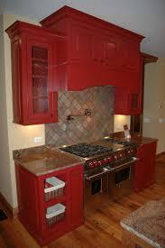 red cabinets kitchen kitchen decoration
