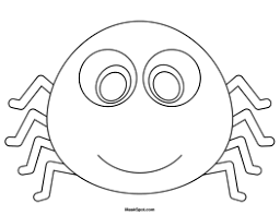 printable spider mask