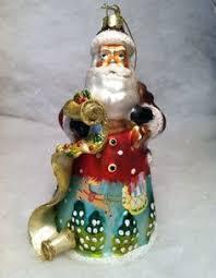 xgp2 1254 chef santa polish glass hand painted christmas tree