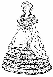 beautiful dress coloring pages pictures adults kids