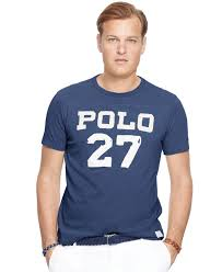 Big And Tall For Mens Clothes Polo Ralph Lauren Big U0026 Tall Football Graphic T Shirt In Blue For