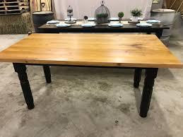 Buy Farmhouse Table Buy A Custom Handmade Solid Cherry Top Farmhouse Table Made To