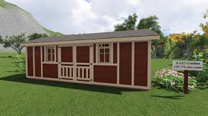 outdoor shed plans 8x22 garden shed plan