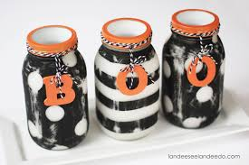 Craft Halloween by Halloween Painted Mason Jars Landeelu Com