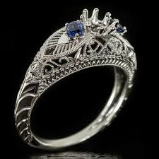 ring settings without stones 1920s style sapphire semi mount engagement ring this would make a