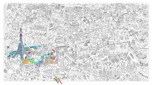 Poster à colorier XXL Paris  180 x 100 cm Paris  OMY Design  Play
